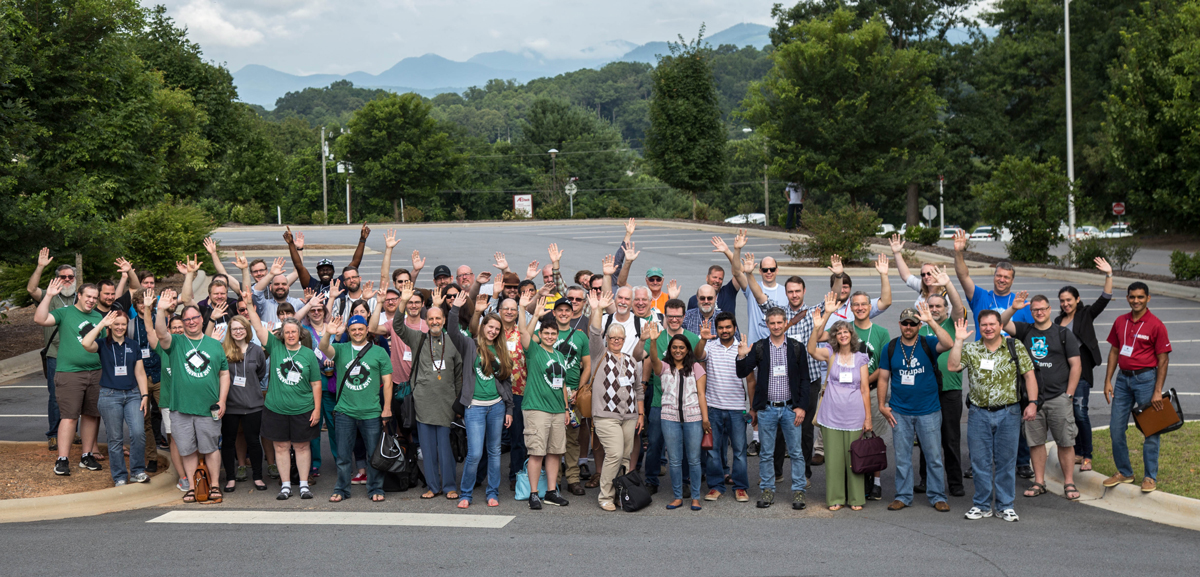 Drupal Camp Asheville 2016 group photo