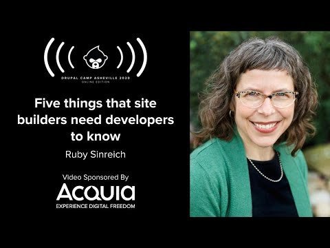 Embedded thumbnail for Five things that site builders need developers to know