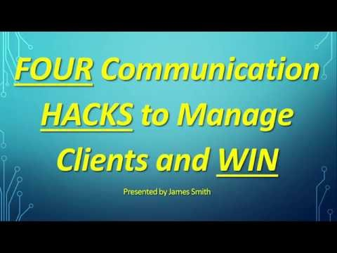 Embedded thumbnail for Four Communication Hacks to Manage Clients and Win