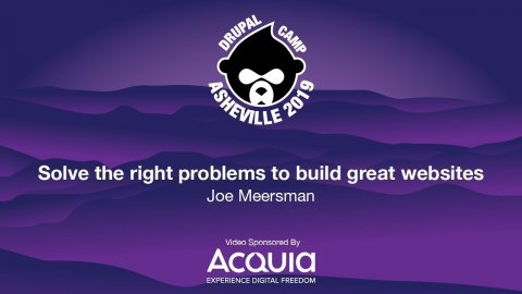 Embedded thumbnail for Solve the right problems to build great websites