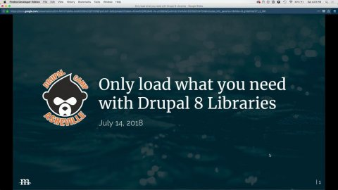Embedded thumbnail for Only load what you need with Drupal 8 Libraries
