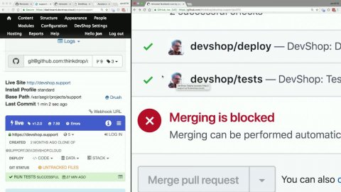 Embedded thumbnail for Easy Automated Testing with Pull Request Environments on your own servers with DevShop