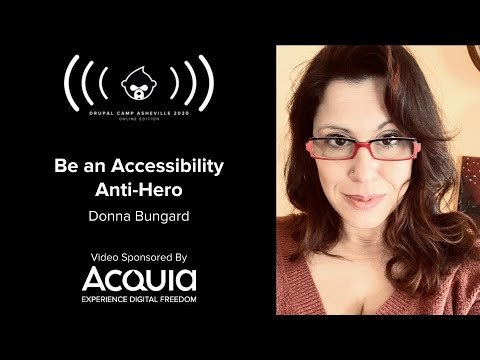 Embedded thumbnail for Be an Accessibility Anti-Hero