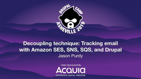 Embedded thumbnail for Decoupling technique: Tracking email with Amazon SES, SNS, SQS, and Drupal