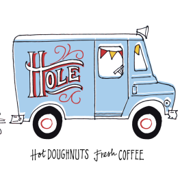 Hole Doughnuts Fresh Coffee logo