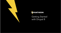 Pantheon: Getting Started with Drupal 8